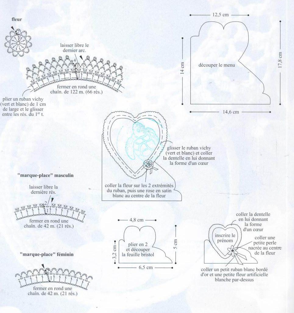 2 Patrones de Crochet Marcos-Corazones