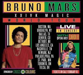 24k Magic World Tour With Cardi B