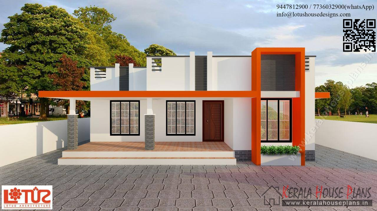 850 sqft budget contemporary style home design kerala for Small budget house plans in kerala