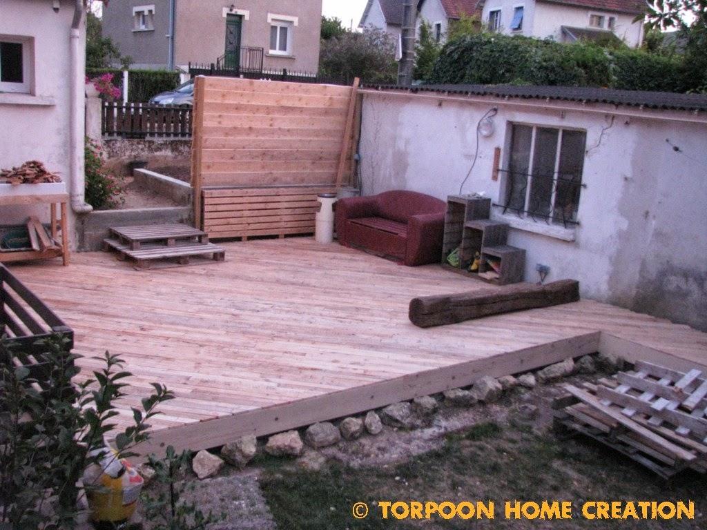 Combien De Palette Pour Faire Une Terrasse torpoon home creation: terrasse en palettes et salon d'été