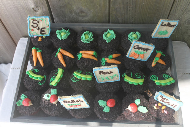 Vegetable Garden Backyard Wedding Cupcakes