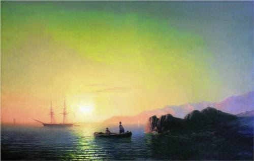 Ivan Aivazovsky Sunset at Crimean Coast