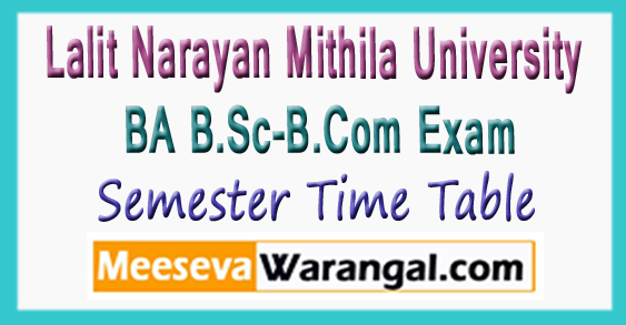 LNMU BA B.Sc-B.Com Exam Time Table 2017-18