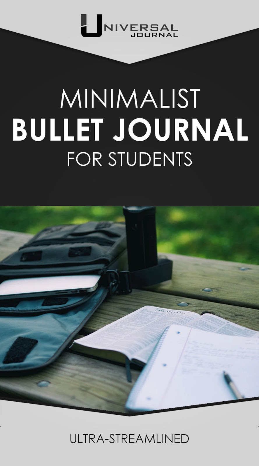 minimalist bullet journal for students school