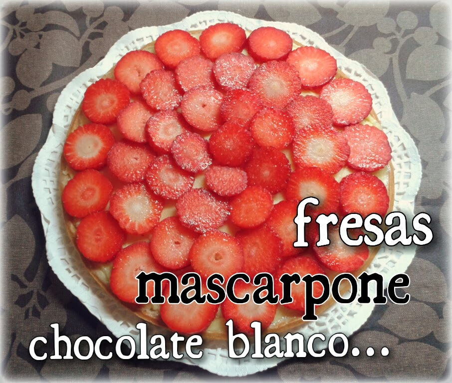 Tarta fresas mascarpone chocolate blanco