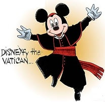 Aislin: Disneyfy the Vatican! Mickey Mouse for Pope!
