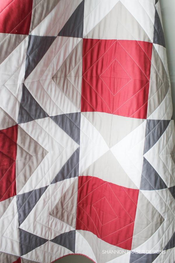 Mod-Rose Modern Aztec Quilt | Shannon Fraser Designs