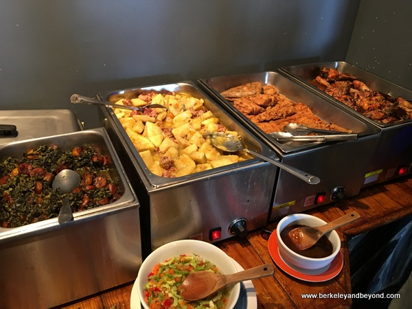 lunch buffet at Coloz restaurant in Port of Spain, Trinidad