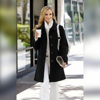 Γυναικείο μαύρο παλτό VAYA BLACK