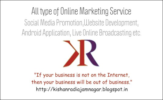 Kishan Radia-Online Marketing Executive