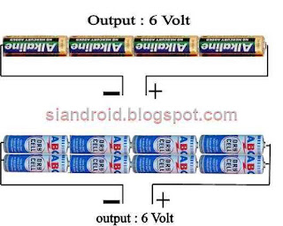 charge HP dari baterai abc dan alakaline