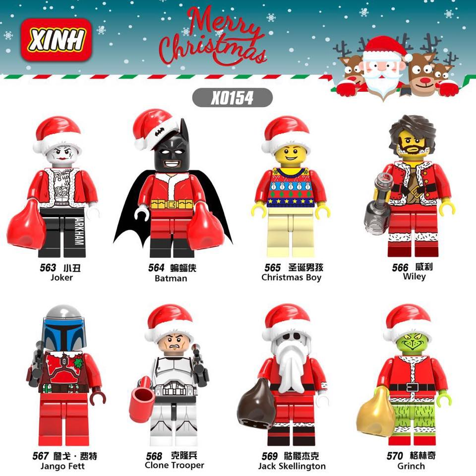 downtheblocks: XINH X0154: Christmas Themed Minifigs Featuring ...