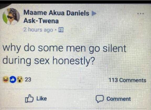 Question of the day.. for MEN