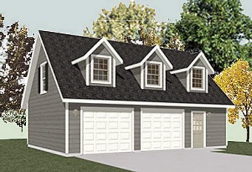 two story garage plans garage plans blog behm design topics. Black Bedroom Furniture Sets. Home Design Ideas