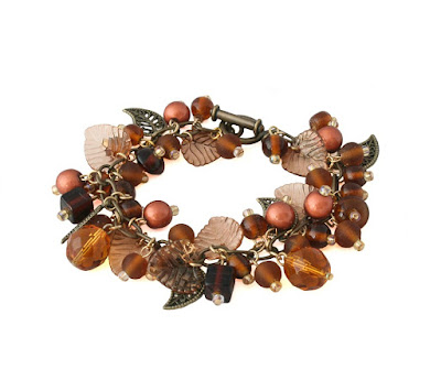 New Autumn Leaf Charm Bracelet at Lottie Of London Jewellery