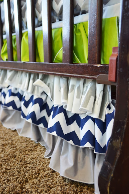 Ruffle Crib Skirt for Baby Boy