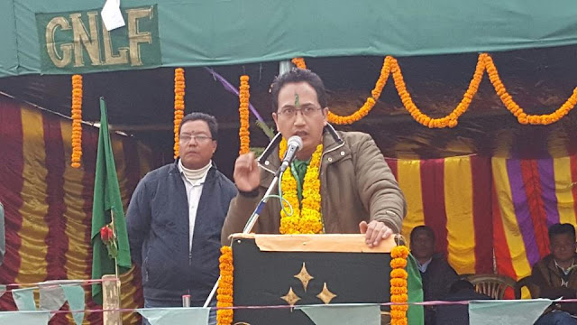 GNLF Chief Mr. Mann Ghising became emotional in ‪Kurseong‬