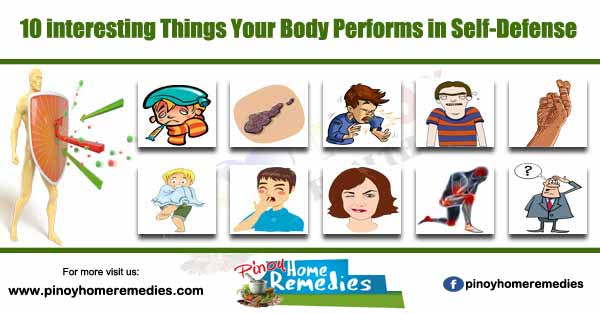 10 interesting Things Your Body Performs in Self-Defense