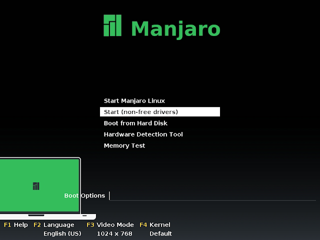 Live CD boot menu