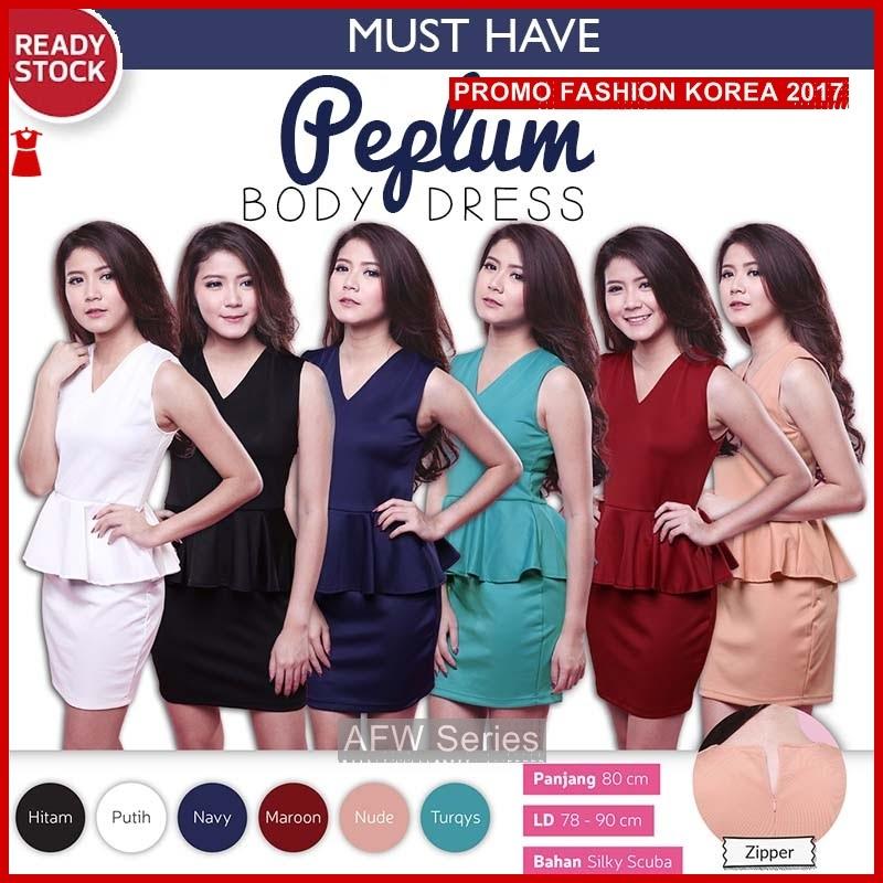BAMFGW149 Peplum Dress Gaun Wanita PROMO BMG