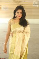 Harshitha looks stunning in Cream Sareei at silk india expo launch at imperial gardens Hyderabad ~  Exclusive Celebrities Galleries 018.JPG