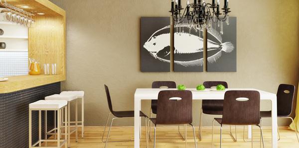 Dekorasi Ruang Makan Modern