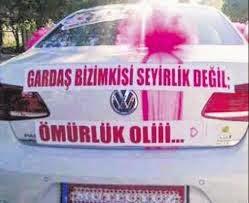 romantik / komik / gelin arabası arkası yazıları sözleri