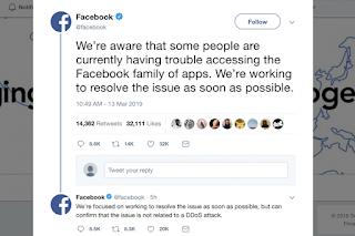 Facebook, Instagram và Messenger không hoạt động đối với nhiều người dùng