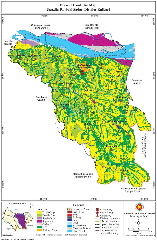 Rajbari Sadar Upazila Mouza Map Rajbari District Bangladesh