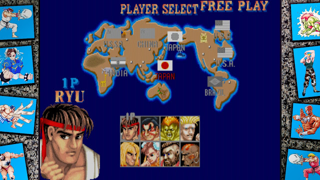 Street Fighter 30th Anniversary Collection - Street Fighter II The World Warrior - character select screen
