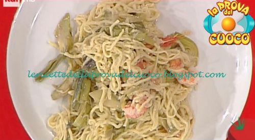 Tagliolini con gamberi e carciofi ricetta Ricchebono da Prova del Cuoco