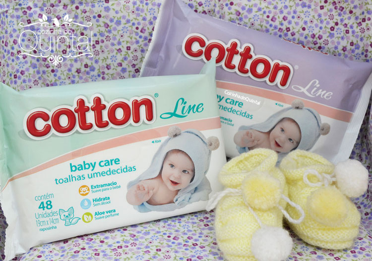 Toalhas Umedecidas Baby Care Cotton Line
