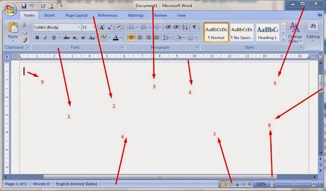 Mengenal Icon fungsi dalam Microsoft Word 2007
