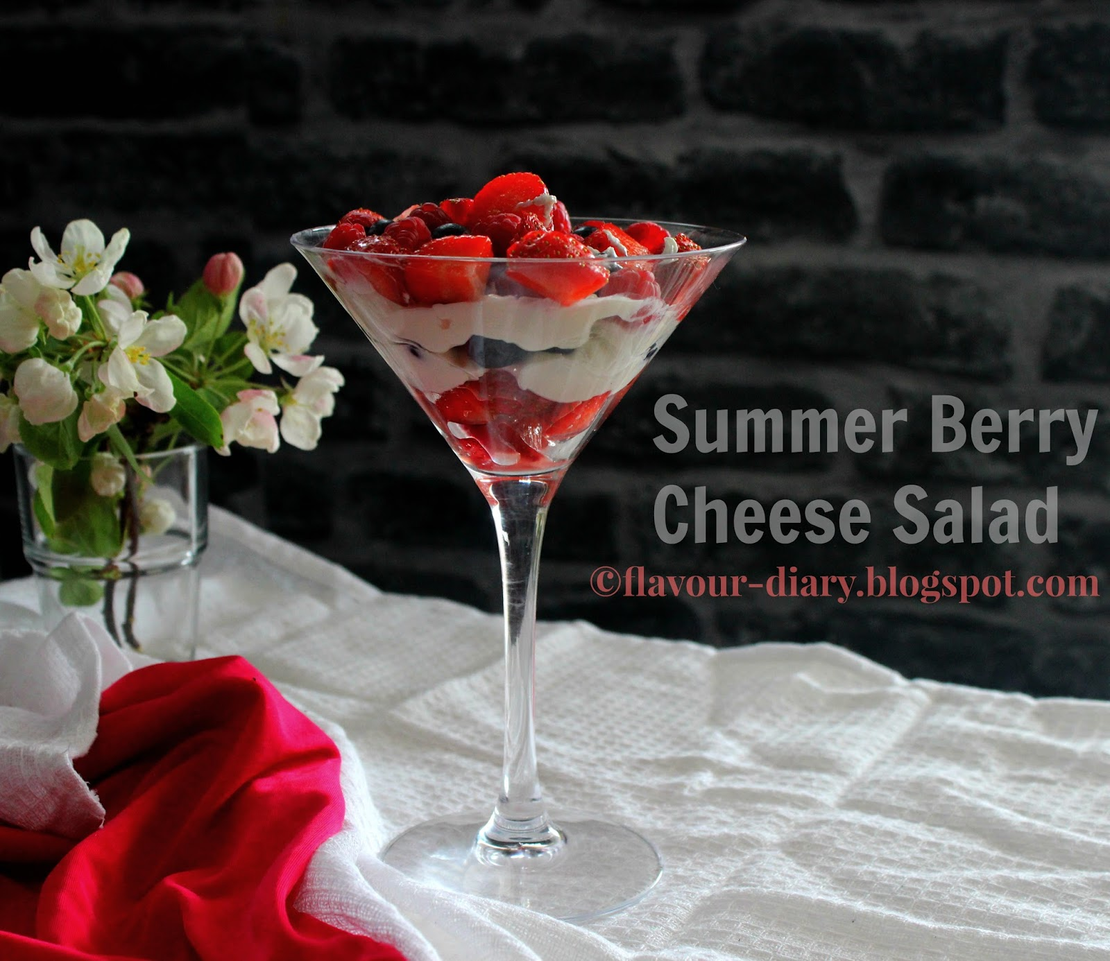 Summer Berry Cheese cake salad recipe
