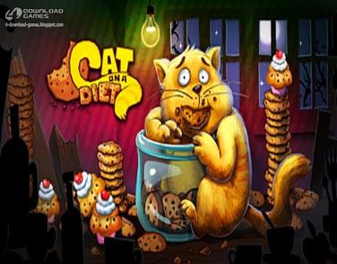 لعبة القطة والحلوي Cat On A Diet