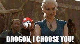 Meme de humor sobre Pokemon y Juego de tronos