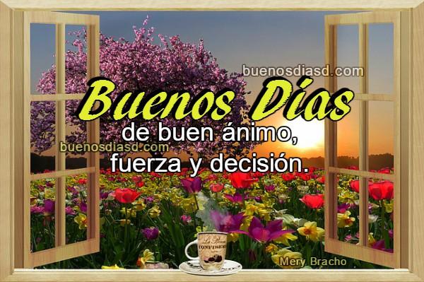 Frases bonitas y cortas de Buenos Días con imágenes, saludos en tarjetas de buen día para amigos del facebook por Mery Bracho