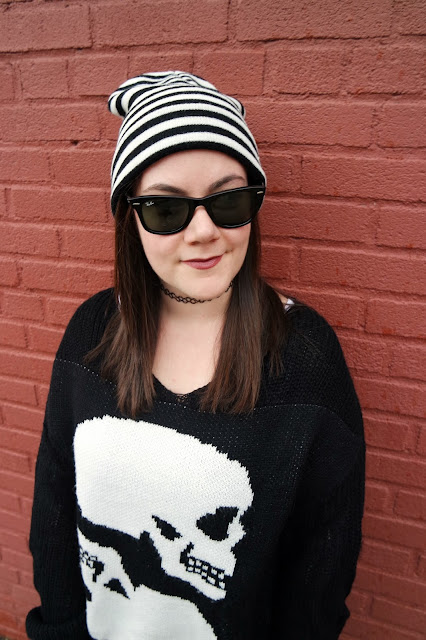 Sequins and Skulls: Double Skull Sweater