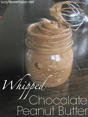 This whipped chocolate peanut butter spread is much healthier than store-bought versions and very simple to make. | suzyandco.com