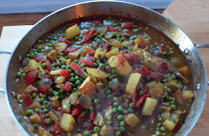 Indian-Style Potato and Pea Curry