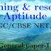 Teaching Research Aptitude UGC CBSE NET B.ED General Paper I PDF