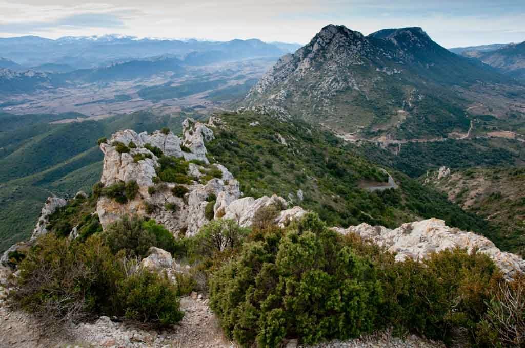 Vistas desde El castillo de Quéribus