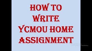 YCMOU home assignment