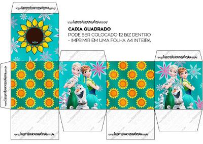 Cajas de Frozen Fiebre Congelada para imprimir gratis.