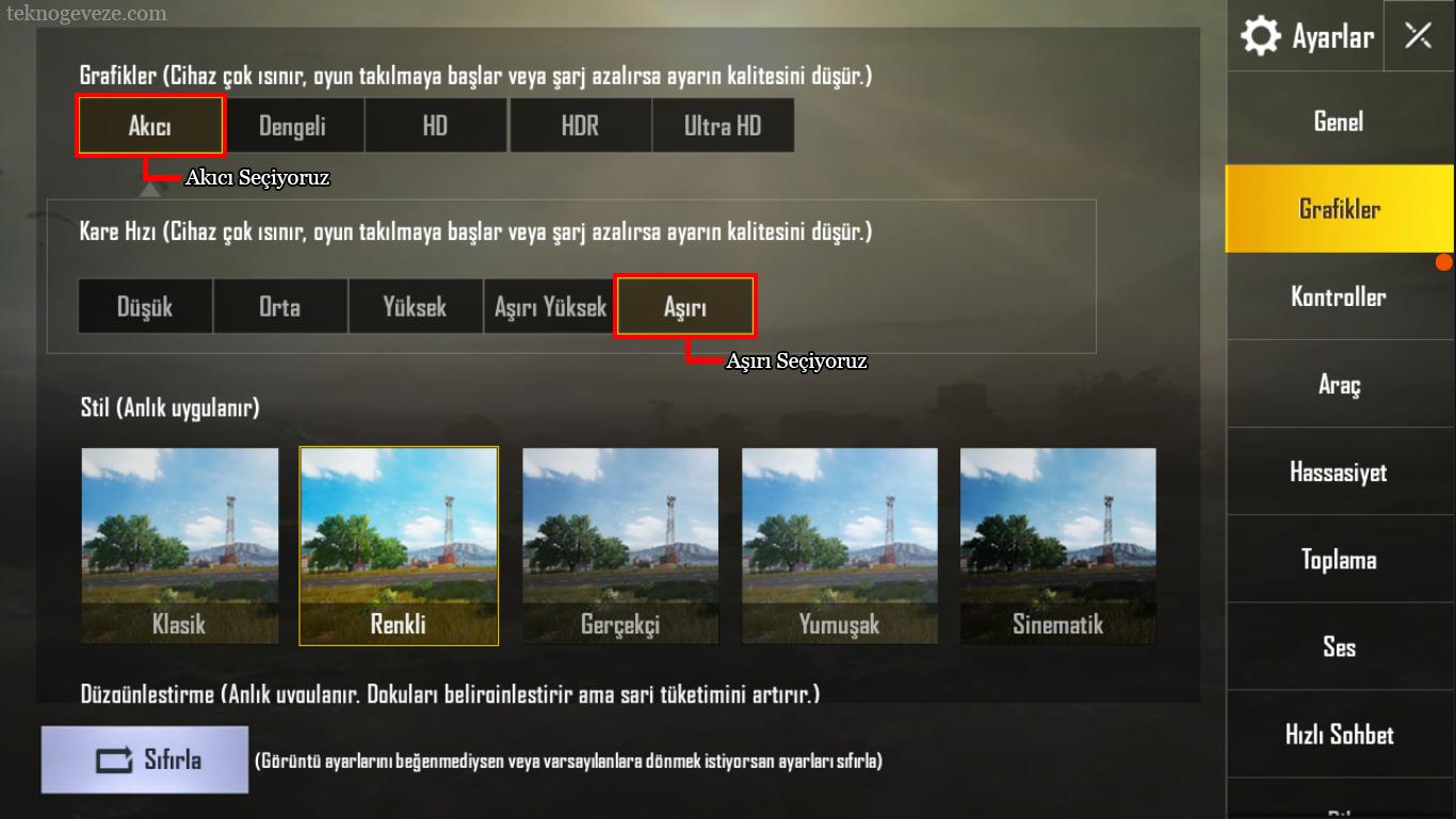 PUBG Mobile PC Emulator FPS Yukseltme Ayarları
