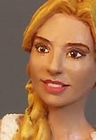 statuetta sposa ritratto sposini somiglianti idea regalo fidanzata sposi orme magiche