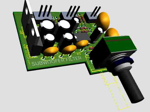 Subwoofer Filter 4558 Complete Regulated Power Supply
