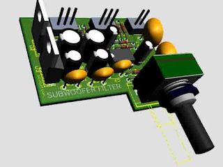 Subwoofer Filter 4558 circuit