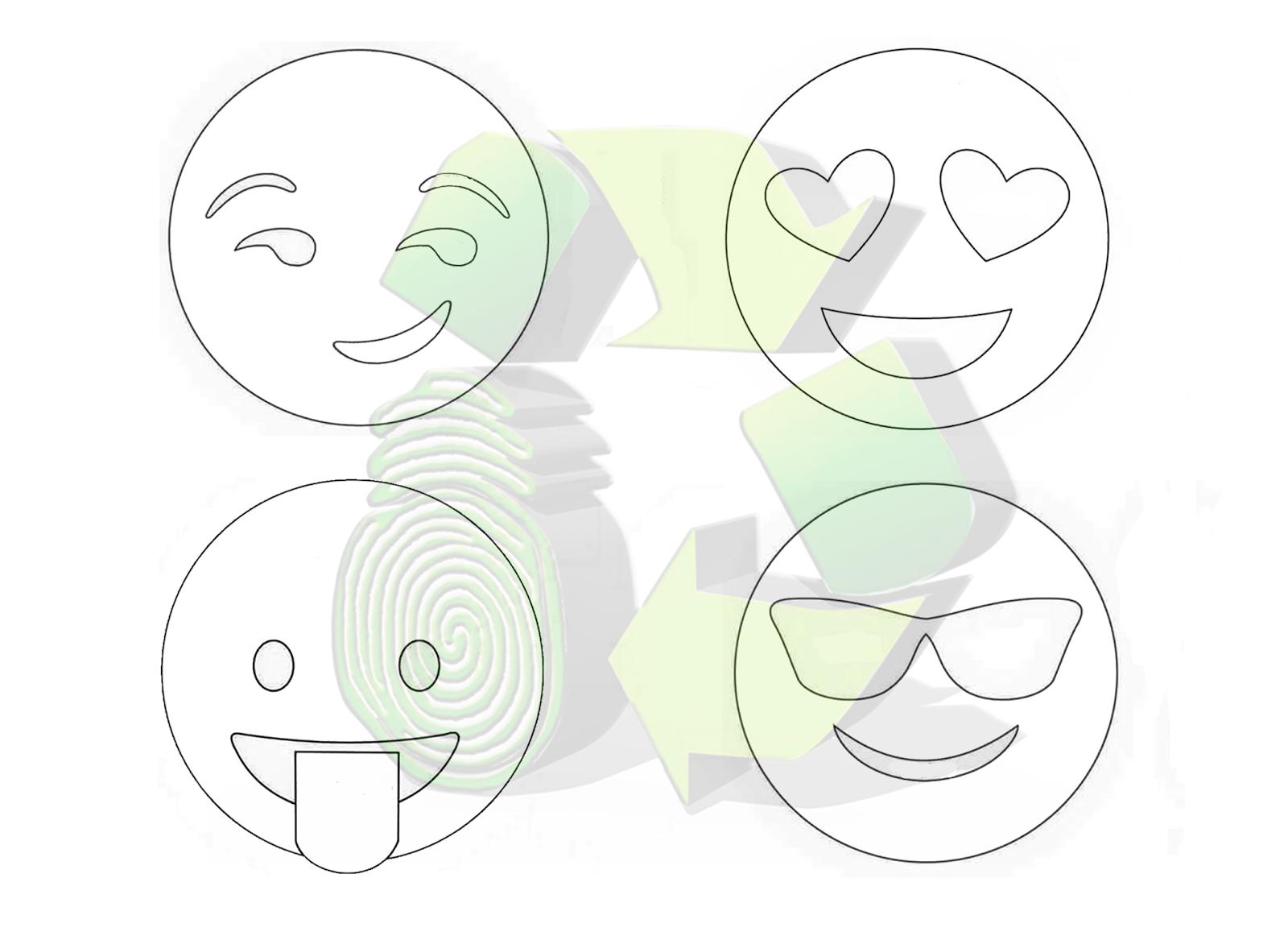 Ecobrisa DIY: Ideas emojis con tubos de cartón