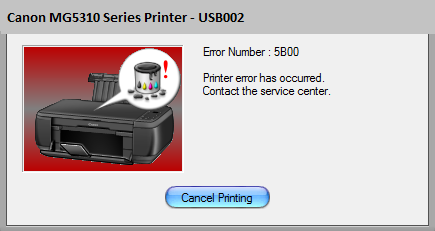 Canon MG5310 Error 5B00